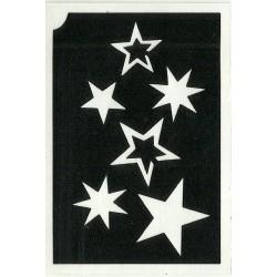 pochoir pluie d'étoiles 2