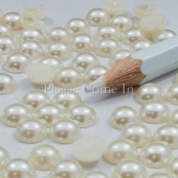 10 strass demi perle 7 mm ivoire perlé