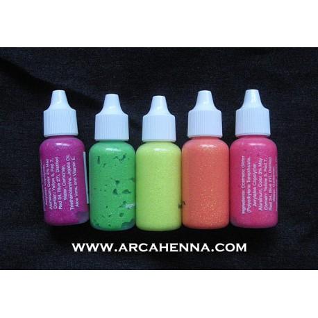 Lot de 6 bouteilles de gel pailleté UV