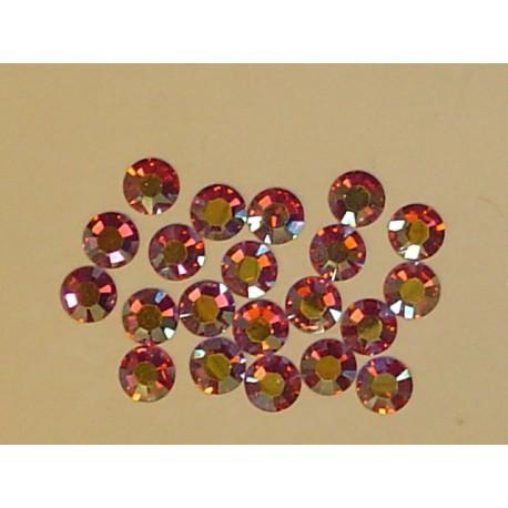 Sachet de cristaux de swarovski rose irisé 2.6mm ss9