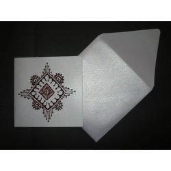 Faire-part carte & enveloppe lavande irisé 4