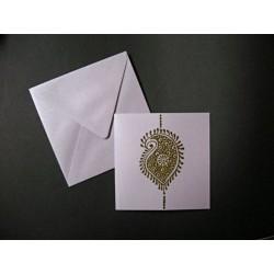 Faire-part carte & enveloppe lavande irisé 14