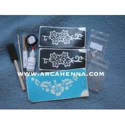 Kit de tatouage paillettes mariage