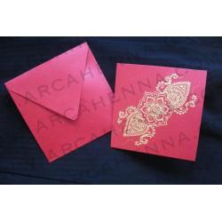 Faire-part carte & enveloppe ivoire irisé 16