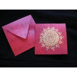 Faire-part carte & enveloppe ivoire irisé 17