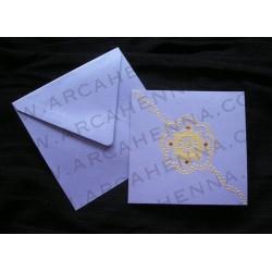 Faire-part carte & enveloppe irisé 19