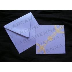 Faire-part carte & enveloppe irisé 20