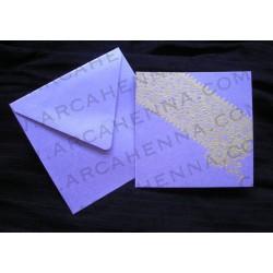 Faire-part carte & enveloppe irisé 22