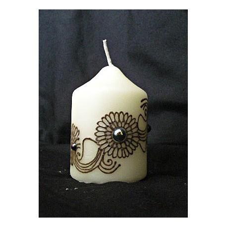 Bougie décorée au henné 3