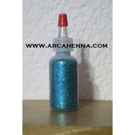 Flacon de paillettes cosmétique extra-fine bleu lagon 14g