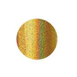 rouleau de feuille métallisée dorée irisée
