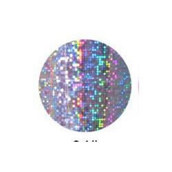 rouleau de feuille métallisée argentée irisée gros points