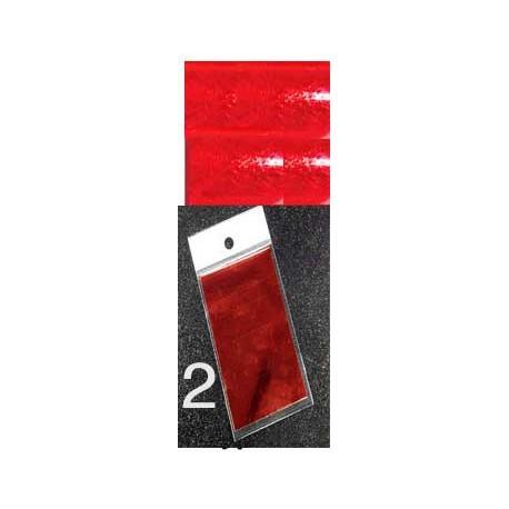 feuille métallisée rouge