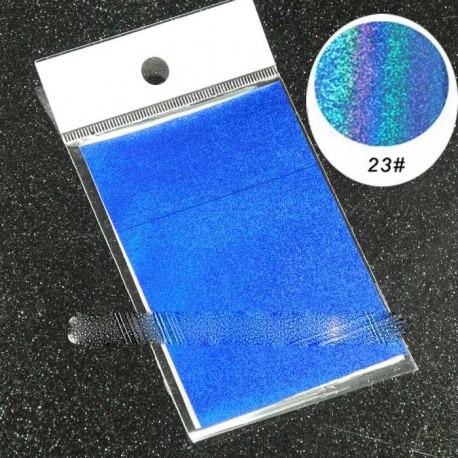 feuille métallisée bleue irisée