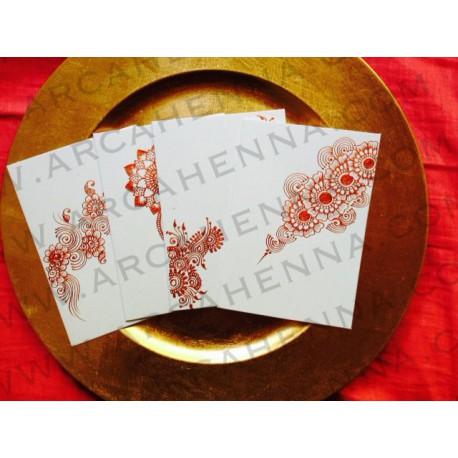 Lot de 4 faire-part cartes & enveloppes blanc irisé