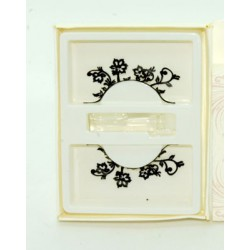 Faux-cils paper cut papier découpé fleurs et volutes