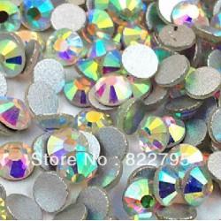 Sachet de strass en cristal 3,9 mm argent irisé ss16