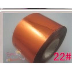 rouleau de feuille métallisée cuivre
