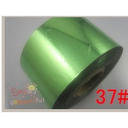 rouleau de feuille métallisée vert d'eau