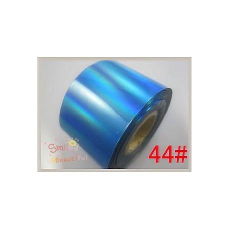 rouleau de feuille métallisée bleue holographique