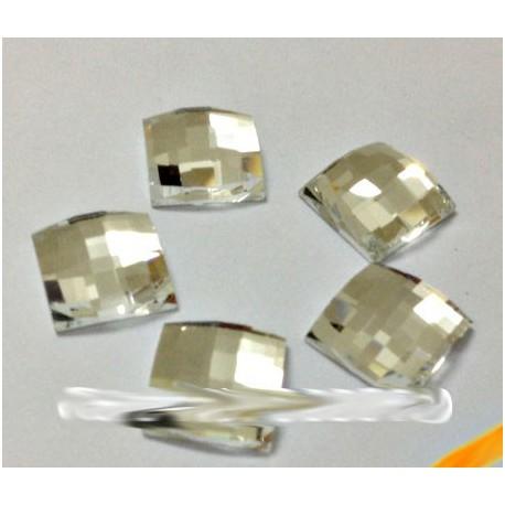 Sachet de strass carré en cristal argent 6mm, 10mm, 14mm