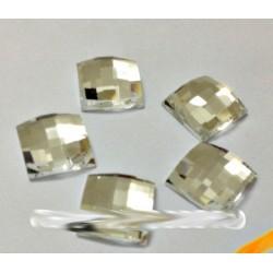 Sachet de strass carré en cristal argent 14 mm