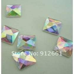Sachet de strass carré en cristal argent irisé 10 mm