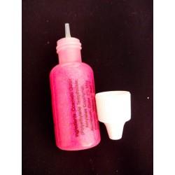 Bouteille de gel pailleté rose électrique