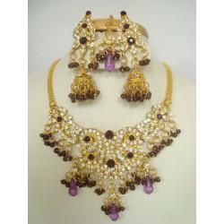 Parure d'artisanat indien bollywood violet 2