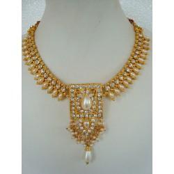 Parure d'artisanat indien bollywood blanc perle 5