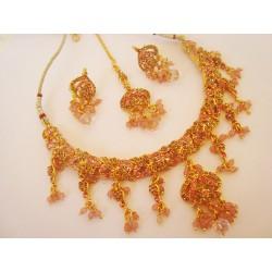Parure d'artisanat indien bollywood rose 7