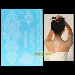 Bijou de peau temporaire GM henné blanc