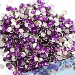 Strass en résine violet 3mm