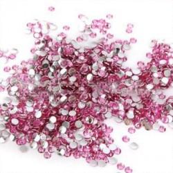 Strass en résine rose 3mm