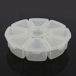 Roue distributrice à compartiments pour cristaux