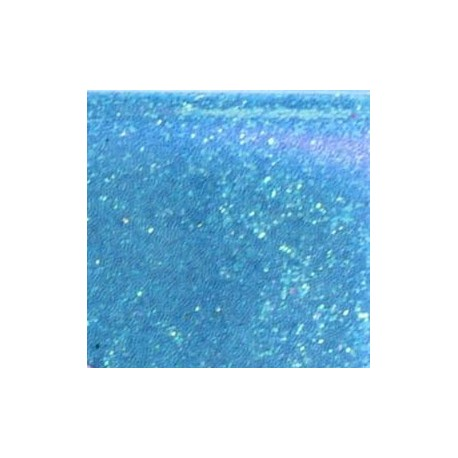 Flacon de paillettes cosmétique extra-fine bleu holographique