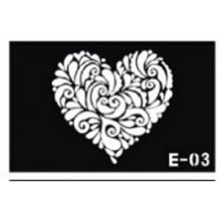 pochoir coeur E-03
