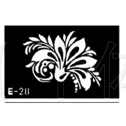 pochoir fleur E-28
