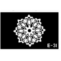pochoir rosace E-31
