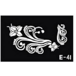 pochoir fleur E-41