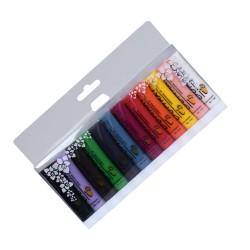Lot de 12 tubes de peinture acrylique