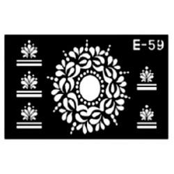 pochoir médaillon E-59