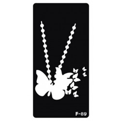 pochoir collier papillon F-89