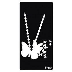 pochoir collier papillon F-89