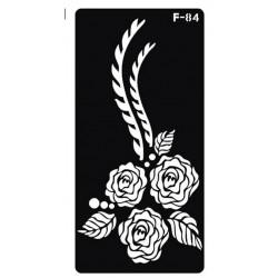 pochoir 3 roses F-84