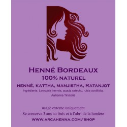 Coloration naturelle Bordeaux 100g