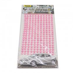 Planche de 260 demi-perles autocollantes 6mm