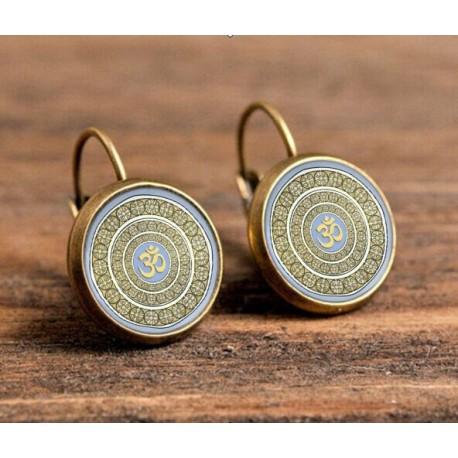 Boucles d'oreilles dormeuses henné mandala