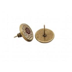 Boucles d'oreilles clous henné mandala