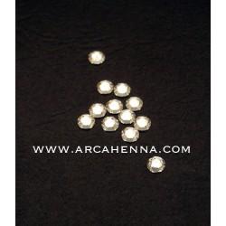 Sachet de 10 cristaux de swarovski 4.8 mm argent